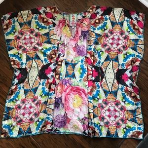 Johnny Was silk blouse